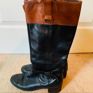 Bernardo leather black and brown riding boots